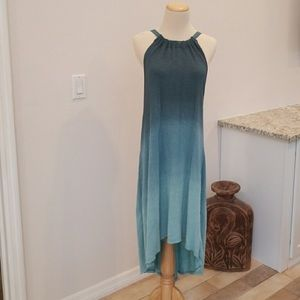 Urban Outfitters ombré high low maxi dress